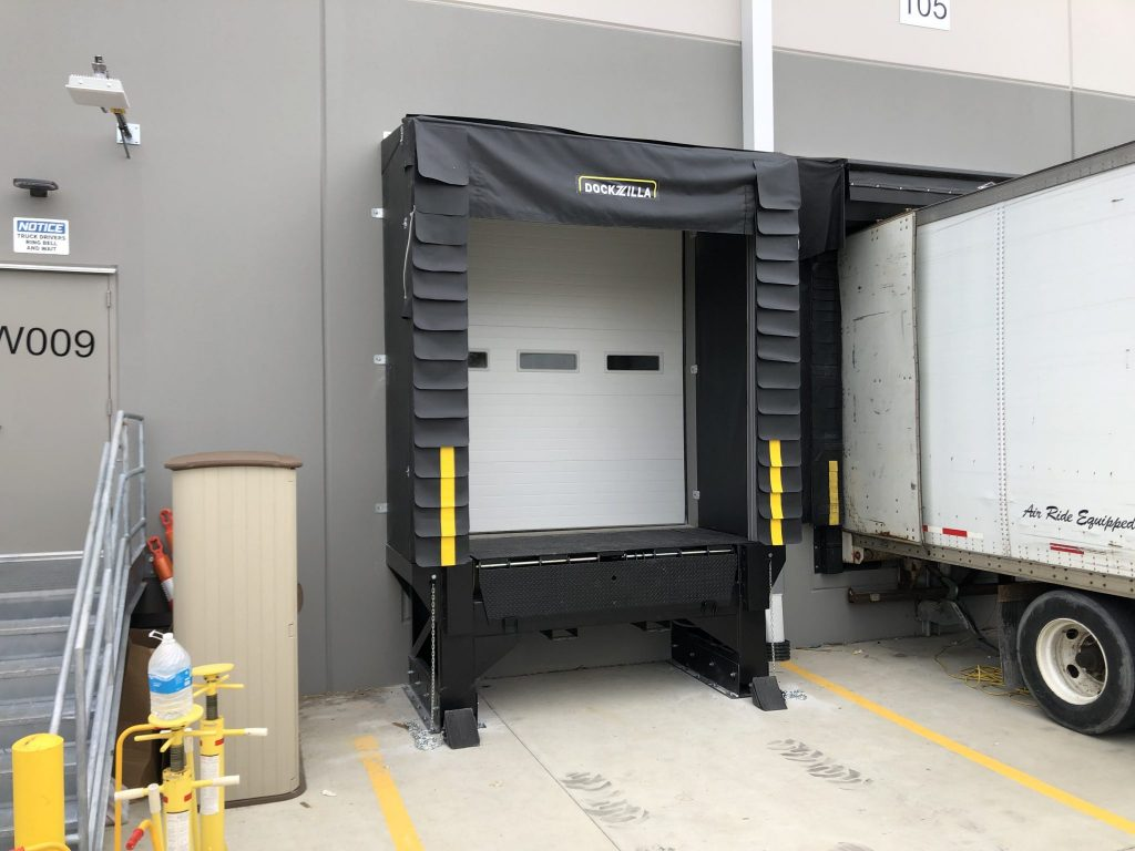 Dockzilla Modular 4×7 Loading Dock Door open (1)